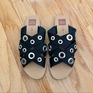 Dolce Vita Adrianna Sandals grommet black 8.5